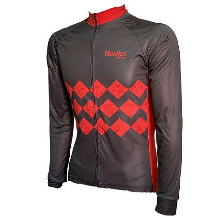 camisa ciclismo manga longa nordico velocity ref 1018