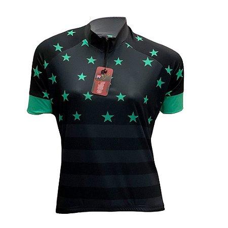 camisa feminina ciclismo nordico estrela noite ref 1042