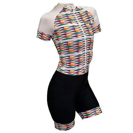 macaquinho ciclismo feminino nordico white diamond ref 1130