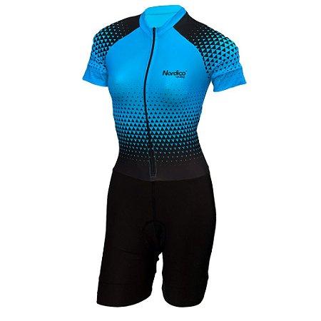 macaquinho ciclismo feminino nordico setaturquesa ref 1021