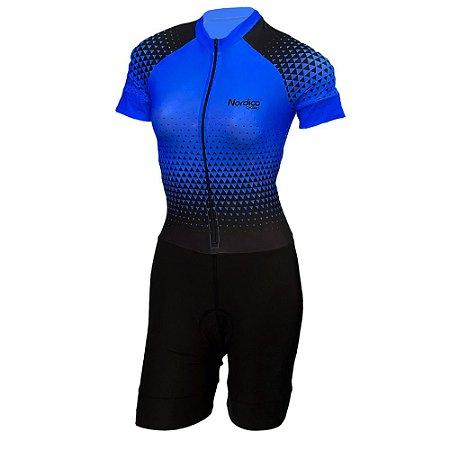 macaquinho ciclismo feminino nordico setaazul ref 1036