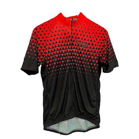 camisa ciclismo nordico seta vermelha ref 1210