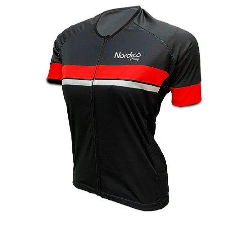 camisa ciclismo feminino nordico go go vermelho ref 1067