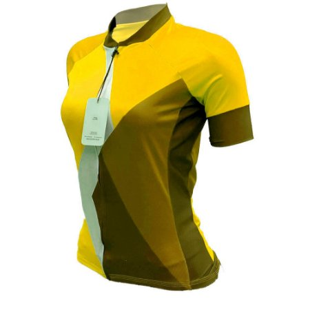 camisa ciclismo feminino nordico yellowTHINg REF 1046