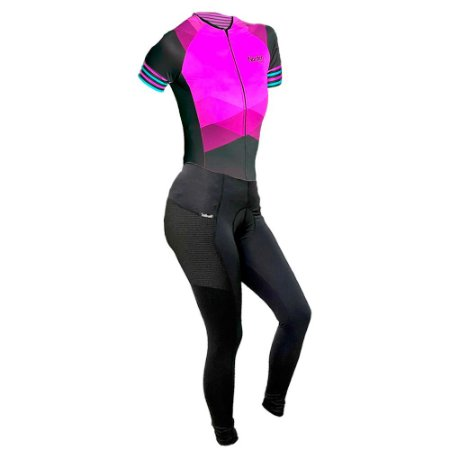 macaquinho CALÇA ciclismo feminino nordico rosado marine com bolso ref 1056