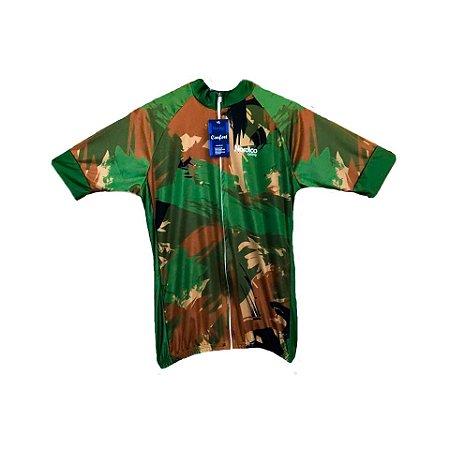 camisa ciclismo nordico camuflado verde ref 1155