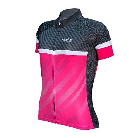 camisa ciclismo feminino nordico glamour ref 1241