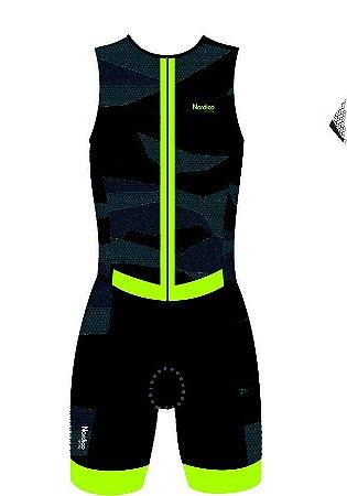 macaquinho ciclismo masculino nordico mustang sem manga ref 330