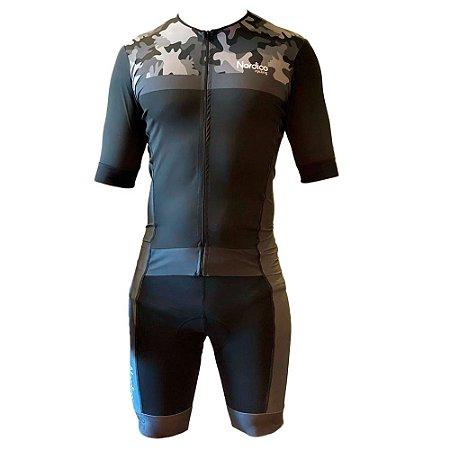macacão ciclismo masculino nordico camuflado black ref 434 m57