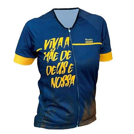 camisa ciclismo feminino nordico Nossa Senhora Aparecida ref 437