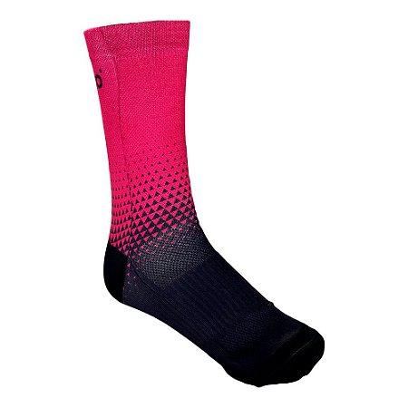 Meia cano medio Nordico seta rosa tam 34 ao 39 ref 552