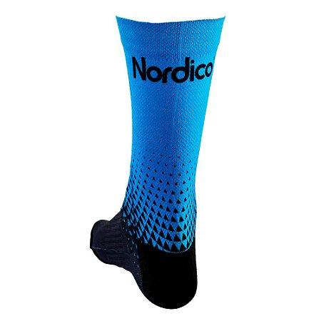 Meia cano medio Nordico seta azul tam 38 ao 43 ref 557