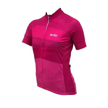 Camisa ciclismo feminino nordico rose REF 1053