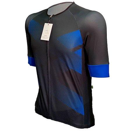 camisa ciclismo Vulblue com faixa refletiva 1110