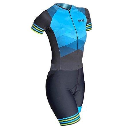 macaquinho ciclismo feminino aqua marine ref 1161