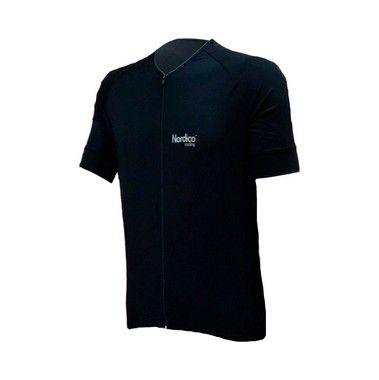 camisa ciclismo black com faixa refletiva ref 439