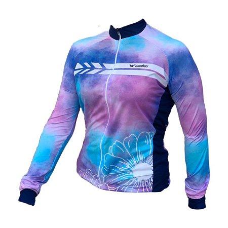 camisa ciclismo feminino manga longa Candy ref 1271