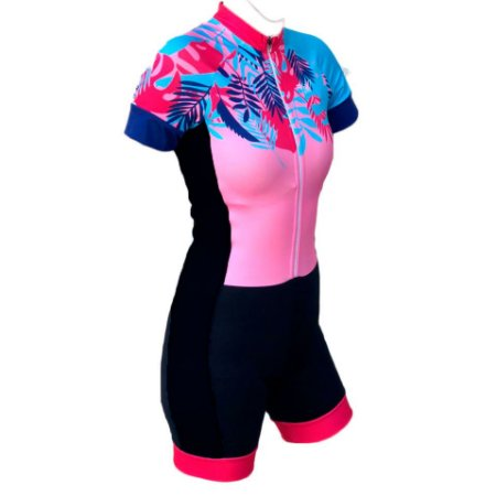 macaquinho ciclismo feminino nice recorte lateral ref 1274