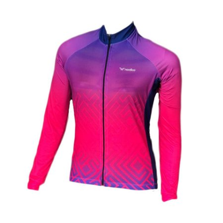 camisa ciclismo feminino manga longa tribe ref 1273