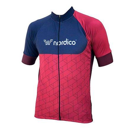 Camisa ciclismo nordico Wine ref 1303