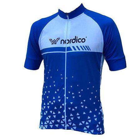 Camisa ciclismo nordico Force Blue ref 1306