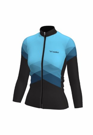 Camisa ciclismo feminino manga longa nordico aqua marine ref 1161d
