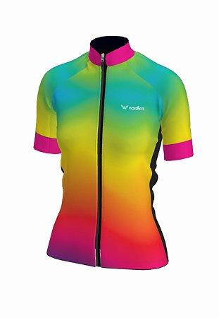 Camisa ciclismo feminino nordico iris ref 1327c