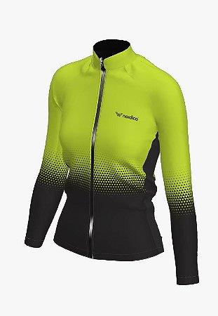 Camisa ciclismo feminino manga longa setaverde ref 1141d