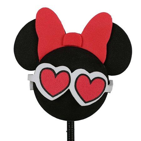 Enfeite para Antena Disney Minnie Óculos Coração