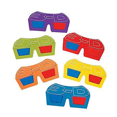 Óculos 3d em Papelão Pacote Com 12 Unidades