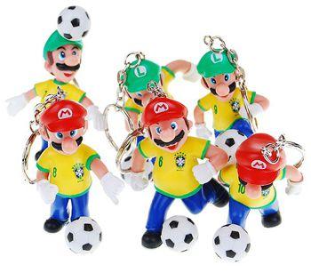 Chaveiro Seleção Brasileira Mario & Luigi