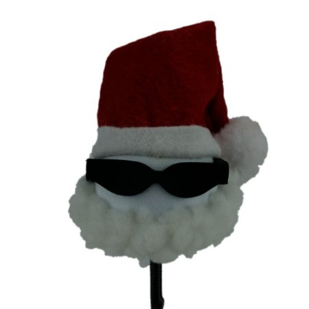 Enfeite para Antena Papai Noel de Óculos Escuro