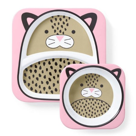 Kit de Pratos Skip Hop Zoo Leopardo