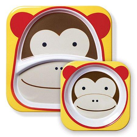 Kit de Pratos Skip Hop Zoo Macaco