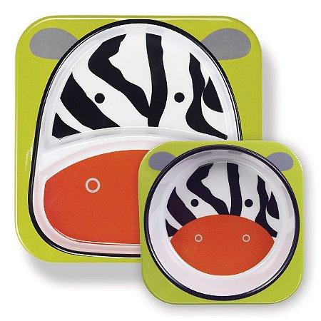 Kit de Pratos Skip Hop Zoo Zebra
