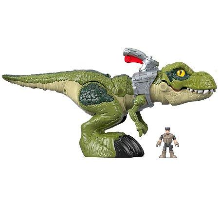 Imaginext Dinossauro T-Rex Mordida Feroz Mattel Fisher-Price
