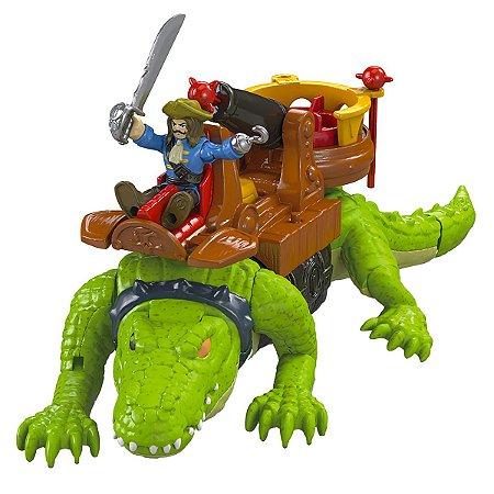 Imaginext Crocodilo e Capitão Gancho - Fisher-Price