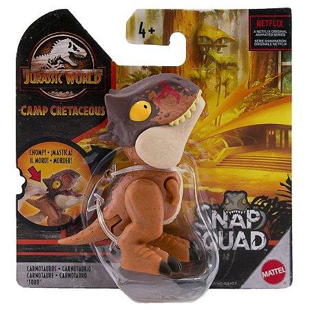 Dinossauro Carnotaurus - Snap Squad - Jurassic World - Mattel