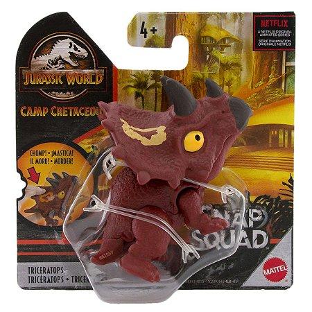 Dinossauro Triceratops - Snap Squad - Jurassic World - Mattel