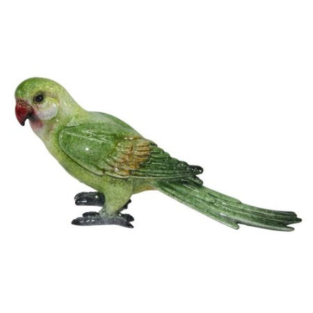 Pássaro decorativo de cerâmica verde
