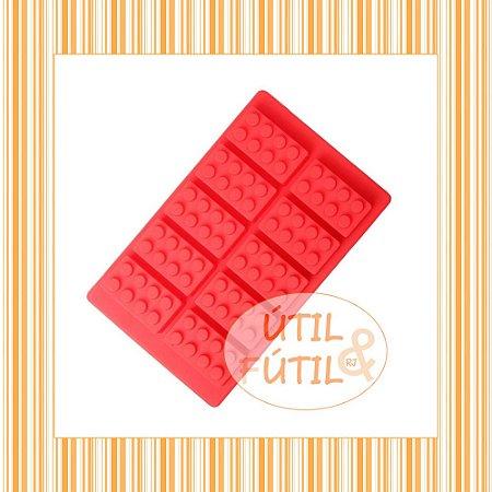 Forma para Gelo Formato Blocos de Montar Lego