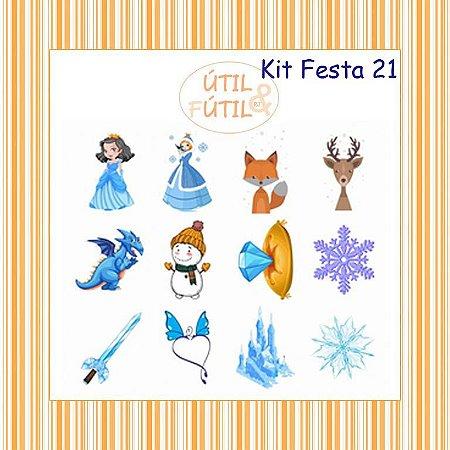 Kit com 12 Tatuagem Temporária Infantil - Modelos 21 a 31