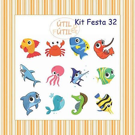 Kit com 12 Tatuagem Temporária Infantil - Modelos 32 a 35