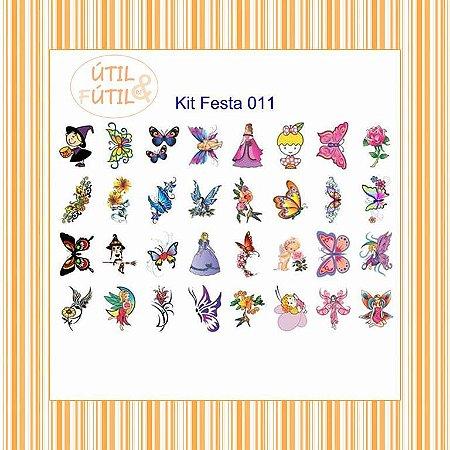 Kit com 32 Tatuagem Temporária Infantil - Modelos 11 a 20