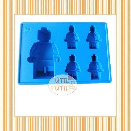 Forma para Gelo Formato 5 Bonecos Lego