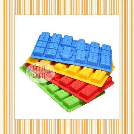 Forma para Gelo Formato Bloco Lego e Boneco