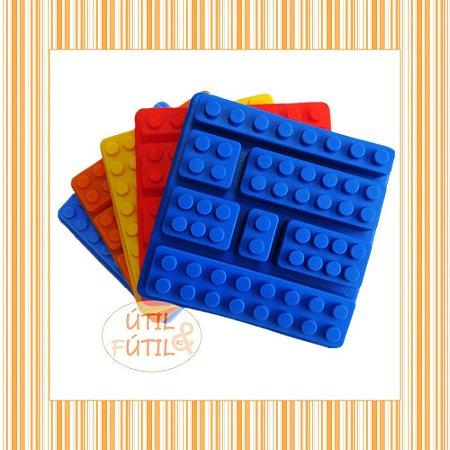 Forma para Gelo ou Chocolate Bloco Lego 7 peças