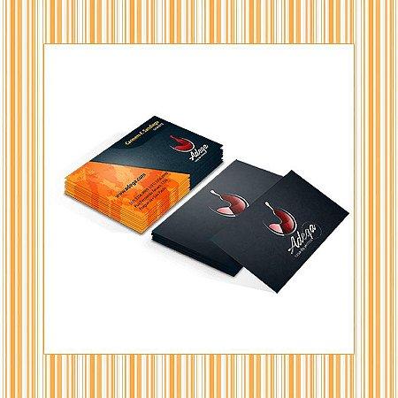 Cartão de Visita - 4,8 x 8,8 cm - 4x4 - Laminação Fosca e Verniz Localizado Frente - Couchê 300gr