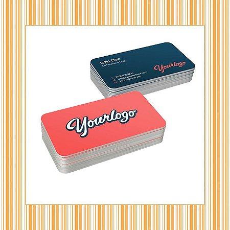 Cartão de Visita 4x4 em Papel couche 300gr  com Laminação Fosca