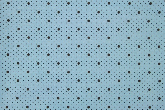 Tecido para Patchwork Poá Marrom fd. Azul (0,50m x 1,50m)